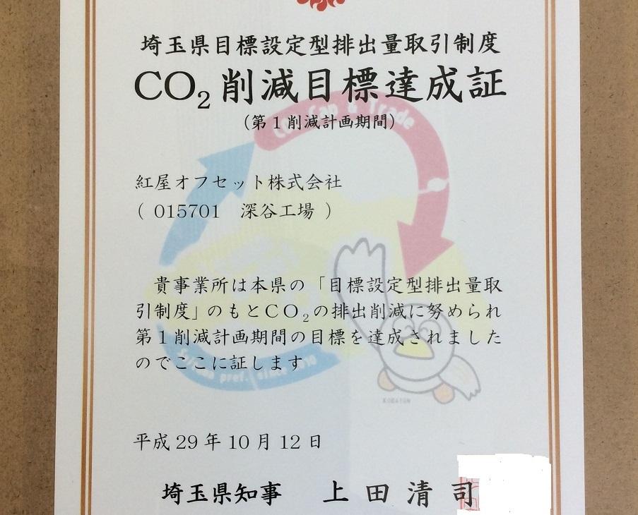CO2削減目標達成証